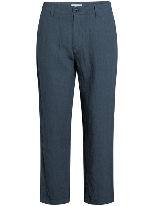 Knowledge Cotton Apparel  Chinos & Hosen Bob Loose Linen Pant [total eclipse] jetzt im Onlineshop von zündstoff bestellen