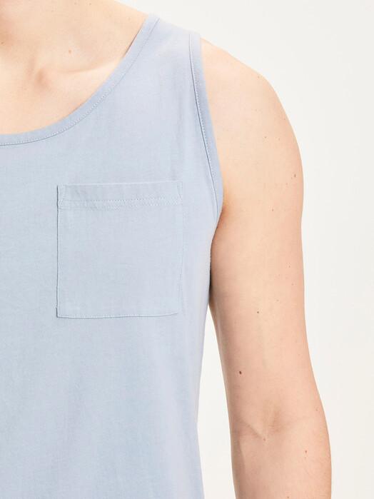 Knowledge Cotton Apparel  Tanktops Alder Palm Tank-Top [asley blue] jetzt im Onlineshop von zündstoff bestellen