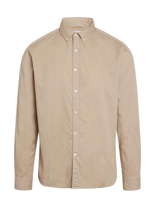 Knowledge Cotton Apparel  Hemden & Polos Larch Casual Cord Shirt [light feather gray] jetzt im Onlineshop von zündstoff bestellen