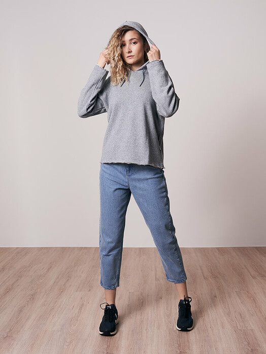 bleed clothing Hoodies Stripe Hanf-Hoody [blau] XS jetzt im Onlineshop von zündstoff bestellen