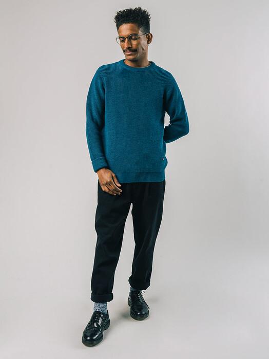 Brava Fabrics Strickpullover Waterfront Sweater [petrol] jetzt im Onlineshop von zündstoff bestellen