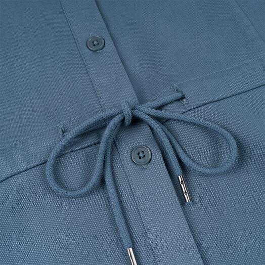 bleed clothing Kleider Light-Breeze Buttoned Kleid [blau] S jetzt im Onlineshop von zündstoff bestellen