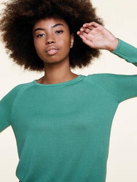 Les Racines du Ciel Strickpullover & Cardigans Bubble Round Neck Sweater [green] jetzt im Onlineshop von zündstoff bestellen