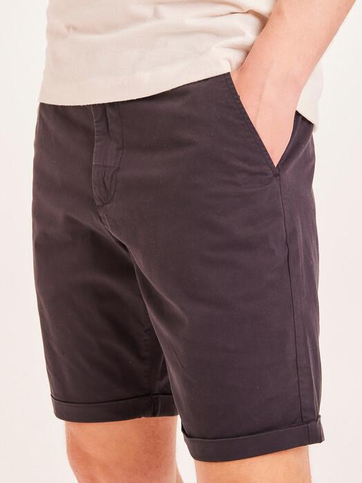 Knowledge Cotton Apparel  Shorts Chuck Poplin Shorts [black jet] jetzt im Onlineshop von zündstoff bestellen