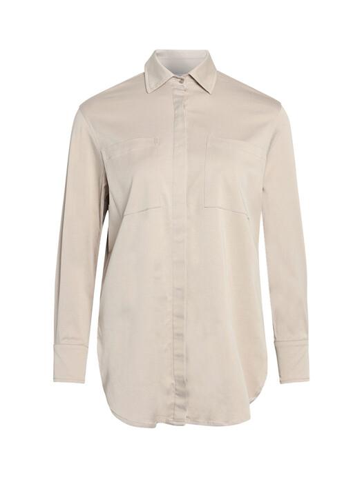 Knowledge Cotton Apparel  Blusen Juniper Worker Shirt [light feather gray] jetzt im Onlineshop von zündstoff bestellen