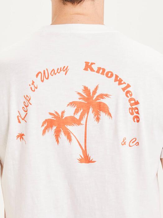 Knowledge Cotton Apparel  T-Shirts Alder Slub Tee [bright white] jetzt im Onlineshop von zündstoff bestellen