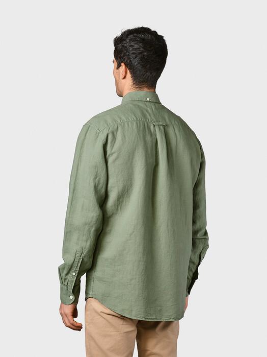Klitmøller Collective Hemden & Polos Benjamin Linen [pale green] jetzt im Onlineshop von zündstoff bestellen