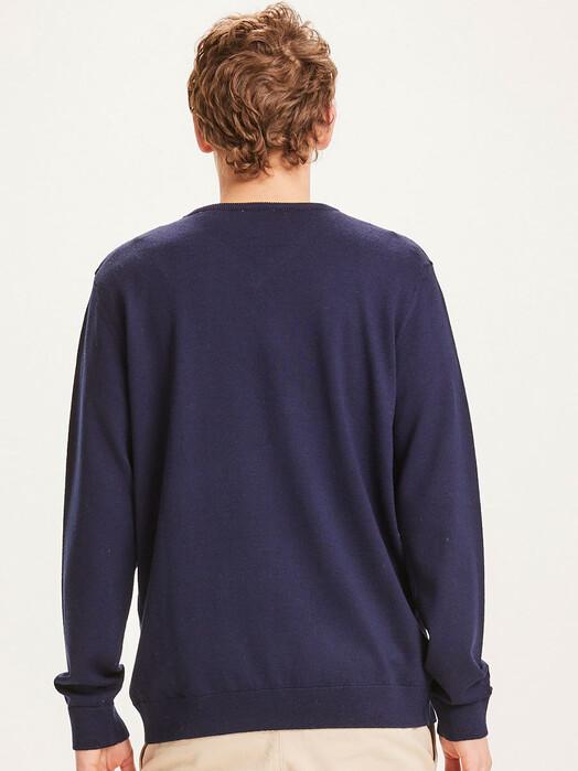 Knowledge Cotton Apparel  Strickpullover Forrest V-Neck Knit [total eclipse] jetzt im Onlineshop von zündstoff bestellen