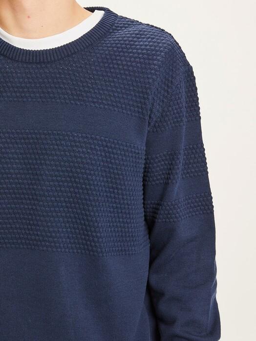 Knowledge Cotton Apparel  Strickpullover Field Bobble Knit [total eclipse] jetzt im Onlineshop von zündstoff bestellen