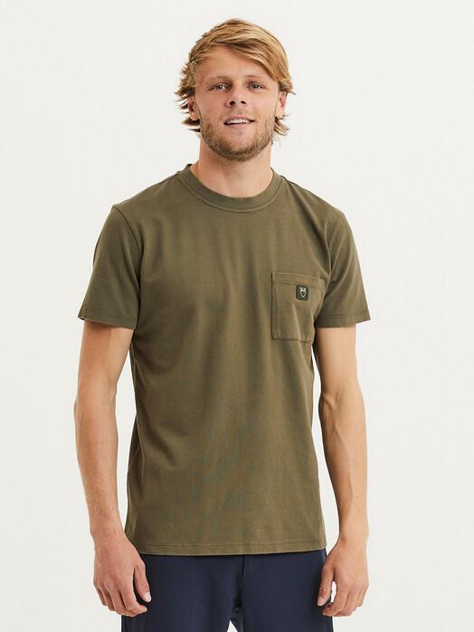 Knowledge Cotton Apparel  T-Shirts Alder Garment Dyed Pique [forrest night] jetzt im Onlineshop von zündstoff bestellen