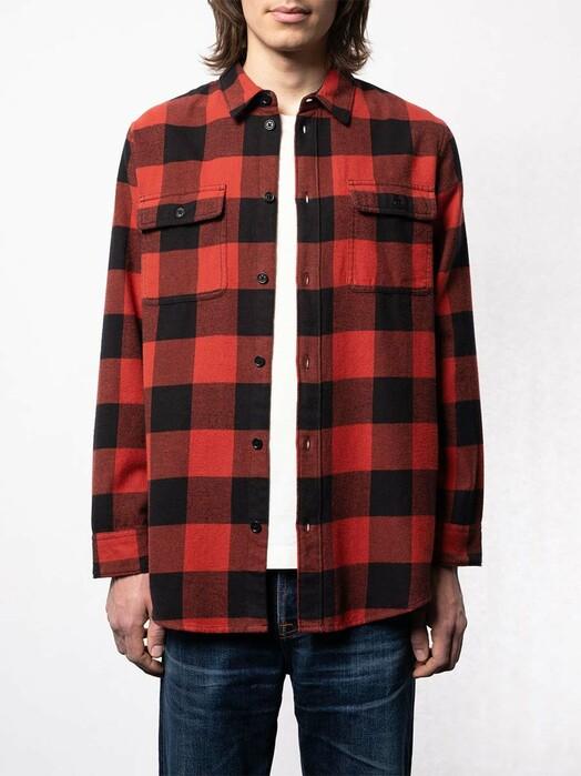 nudie Jeans Hemden & Polos Gabriel Buffalo Check [poppy red] jetzt im Onlineshop von zündstoff bestellen