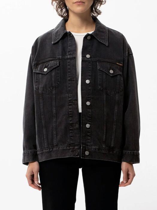 nudie Jeans Jacken & Mäntel  Elin [black trace] XS jetzt im Onlineshop von zündstoff bestellen