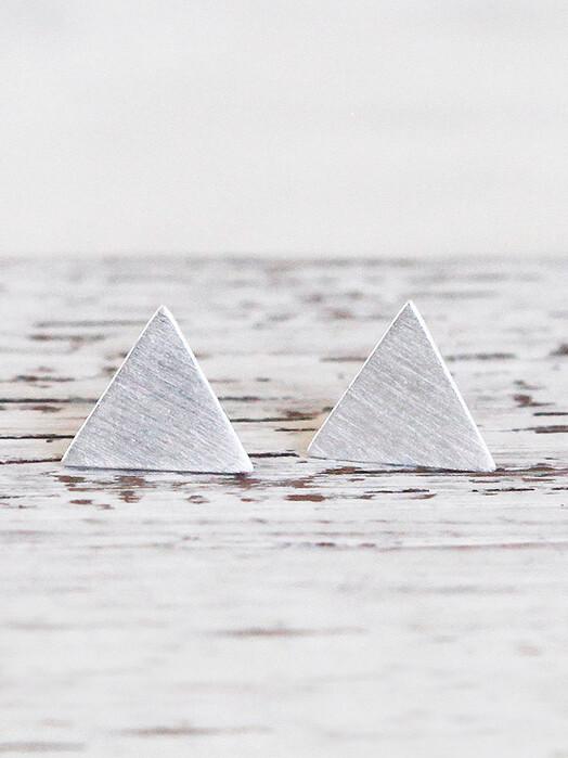 pikfine Schmuck 925er Silber Ohrstecker Triangel One Size jetzt im Onlineshop von zündstoff bestellen