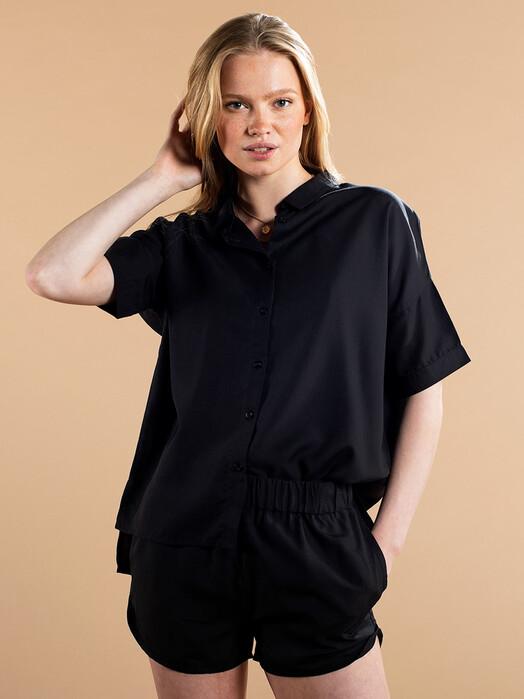 Dedicated Blusen Nibe [black] jetzt im Onlineshop von zündstoff bestellen