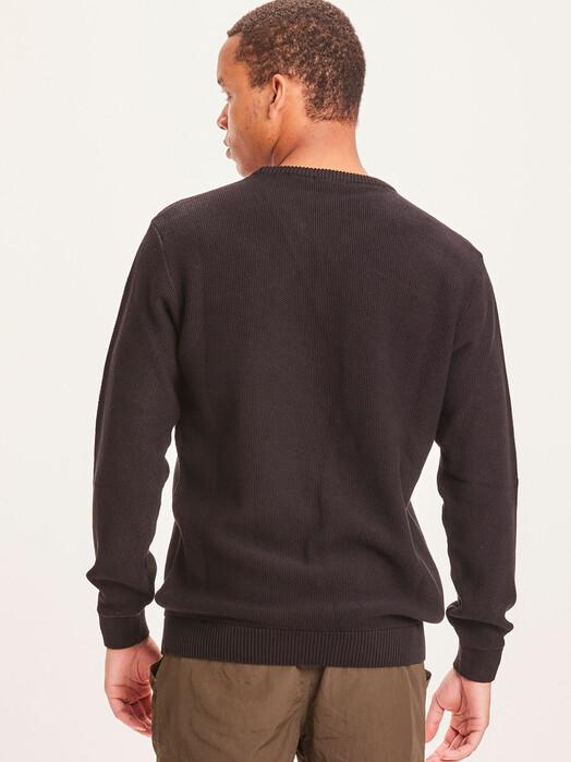 Knowledge Cotton Apparel  Strickpullover Field Pique Badge Knit [black jet] jetzt im Onlineshop von zündstoff bestellen