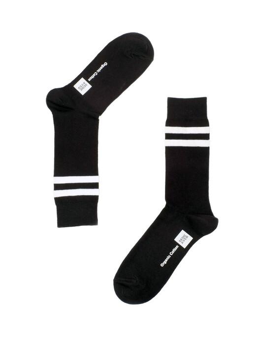 Dedicated Socken  Sigtuna Double Stripes [black] jetzt im Onlineshop von zündstoff bestellen