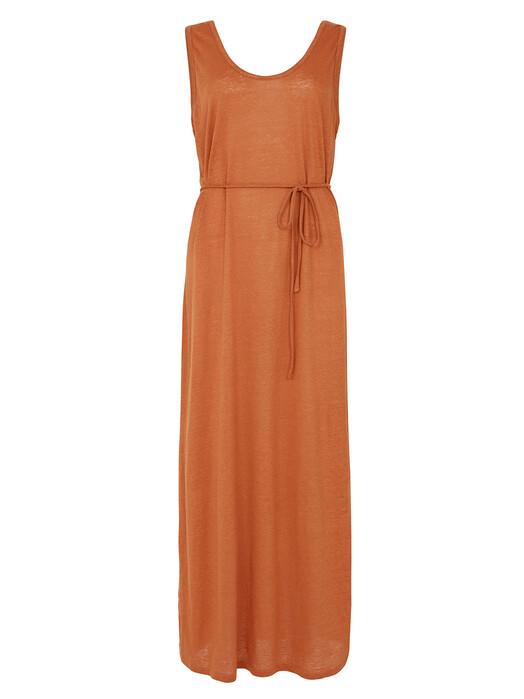 People Tree  Kleider Arden Linen Sleeveless Dress [hazel] jetzt im Onlineshop von zündstoff bestellen
