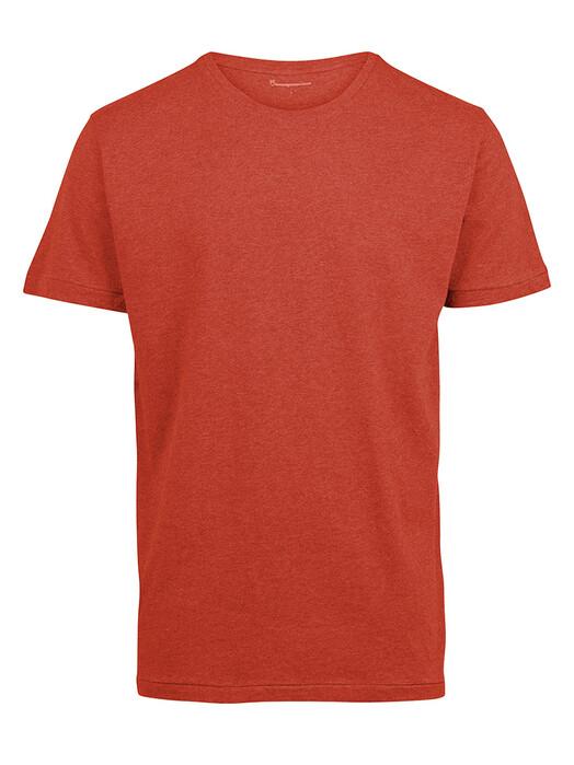 Knowledge Cotton Apparel  T-Shirts Alder Basic Tee [rust melange] jetzt im Onlineshop von zündstoff bestellen