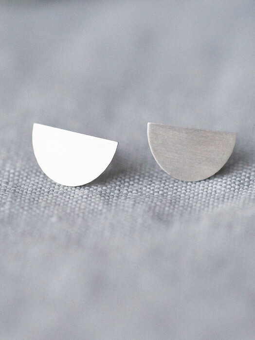 pikfine Schmuck 925er Silber Ohrstecker Moon One Size jetzt im Onlineshop von zündstoff bestellen