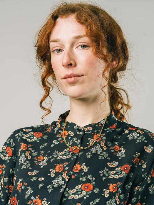 Brava Fabrics Blusen Dalia Mao Blouse [black] jetzt im Onlineshop von zündstoff bestellen
